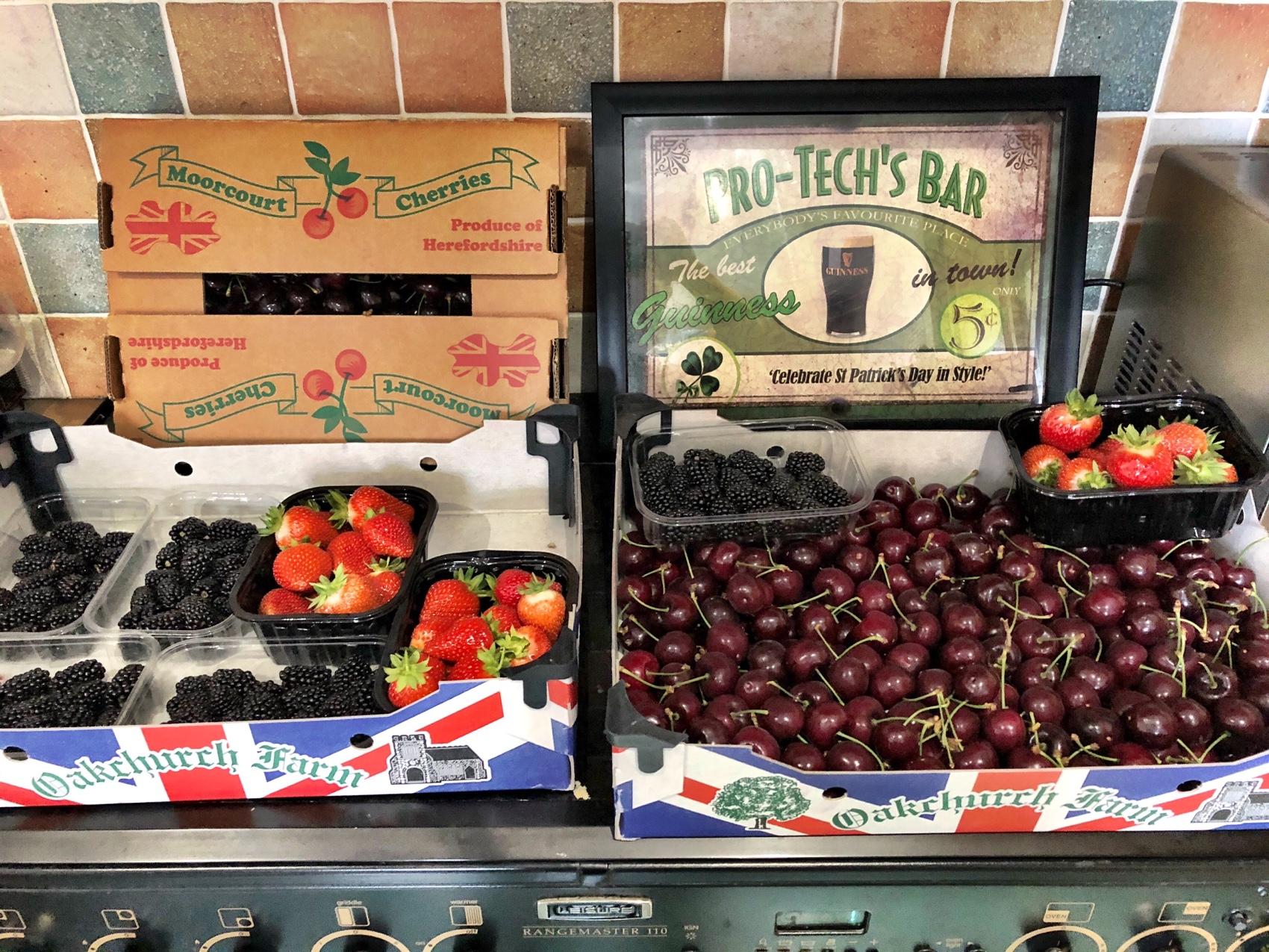 British strawberry, British cherry, British blackberry, soft fruit farming