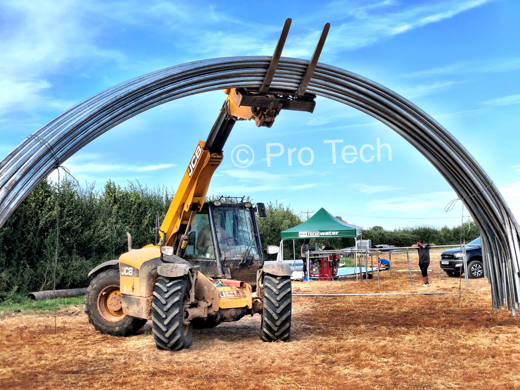 Oval tube polytunnels, Protech tunnels, oval tube
